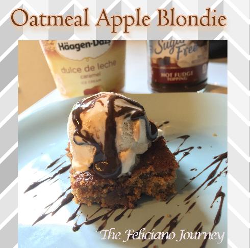 oatmeal apple blondie