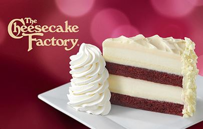 Cheesecake Factory Buy $25 gift card & get 2 slices of cheesecake