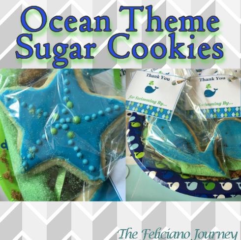 Ocean Theme Sugar Cookies