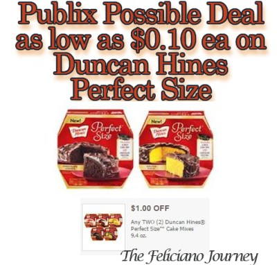 Publix D.Hines Perfect Size possibly as low as $0.10 starting 12/3