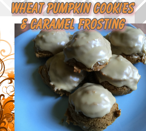 wheat pumpkin cookies and frosting