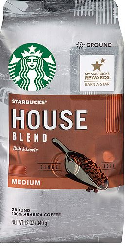 Target Starbucks House or French Roast Coffee as low as $1.90 each