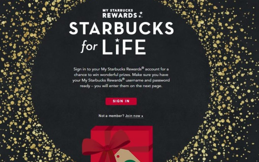 Starbucks for Life Giveaway (ends today)