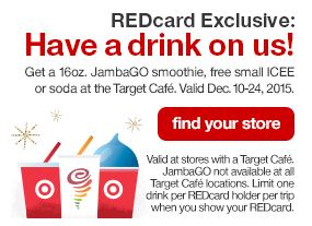 Target RedCard Free Drinks (starts today)