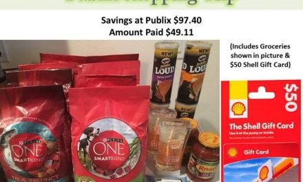 Publix Haul 6/24/17 – $49.11 (w/ a $50 Gas GC)