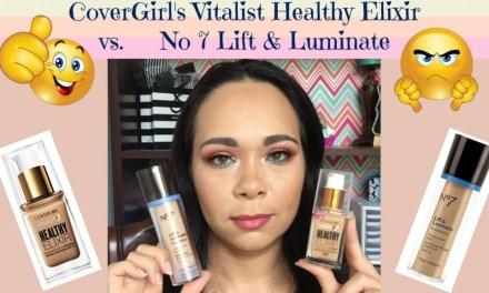 Covergirl Vitalist Healthy Elixir vs No 7 Lift & Luminate Demo   Jazz Journey
