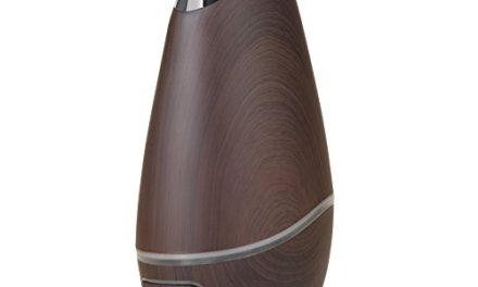 SmartMist Aromatherapy Essential Oil Diffuser – Modern Wood Finish, Auto Shut-off, LED Lights, 3 Mist Settings for Aroma – Ultrasonic Cool Air Purifier Humidifier for Room
