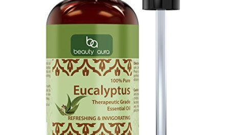 Beauty Aura 100% Pure Eucalyptus Oil – Finest Therapeutic Grade Oils Made From Premium Leaves for Humidifier, Aromatherapy Diffuser & Vaporizer Units & for All Other Uses (4 Fl Oz)