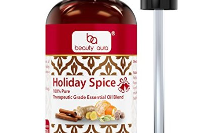 Beauty Aura Holiday Spice 100% Pure Therapeutic Grade Essential Oil Blend-4floz