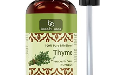 Beauty Aura Thyme Essential Oil – 4 fl oz- 100% Pure, Undiluted Therapeutic Grade Oil – Ideal for Aromatherapy .