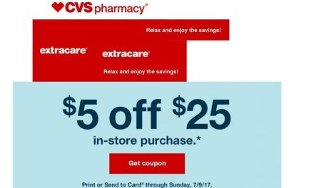 CVS email: Save $5 off $25 (ck your email)