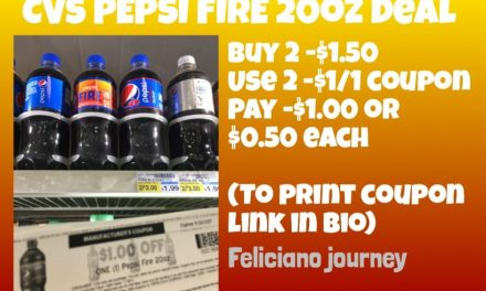 CVS Pepsi Fire 20 oz (as low as $0.50 each)