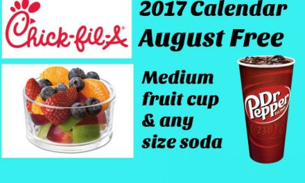 Chick Fil A – August 2017 Calendar (ends today)