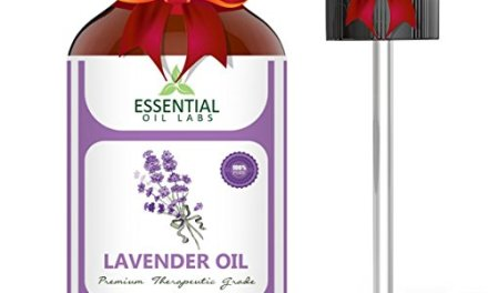 Essential Oil Labs Natural Therapeutic Grade Lavender Oil with Glass D…