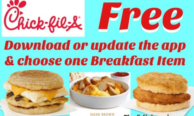 Chick-fil-A FREE Breakfast Item (3 to choose from) ends tomorrow