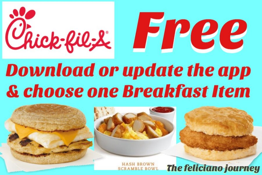 Chick-fil-A FREE Breakfast Item (3 to choose from) starts today