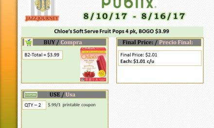 Publix: Chloe's Fruit Pops (upcoming ad 8/10) as low as $1.01