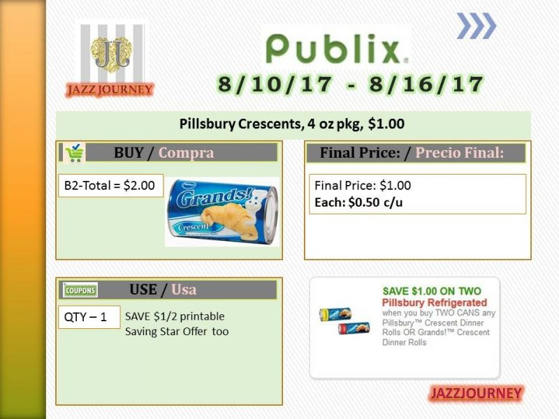 Publix: Pillsbury Crescents (upcoming ad 8/10) as low as $0.50