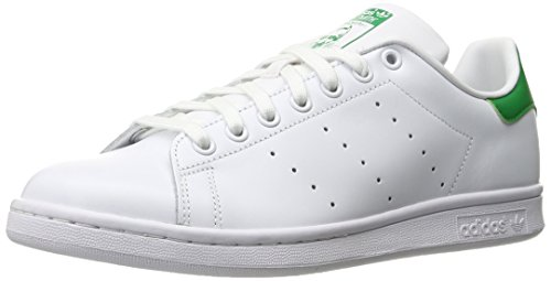 adidas Men's Originals Stan Smith Sneaker, White/White/Fairway, 10 M US