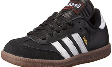 adidas Samba Classic Leather Soccer Shoe (Toddler/Little Kid/Big Kid),Black/ White,4 M US …