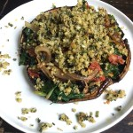 Pesto Stuffed Portobello Mushrooms