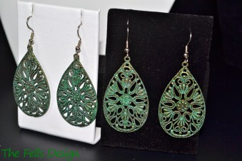 Boho pendant earrings