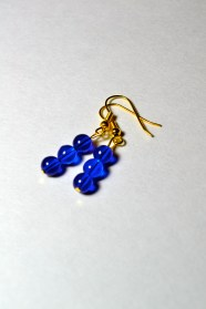Blue Czech Glass beaded earrings