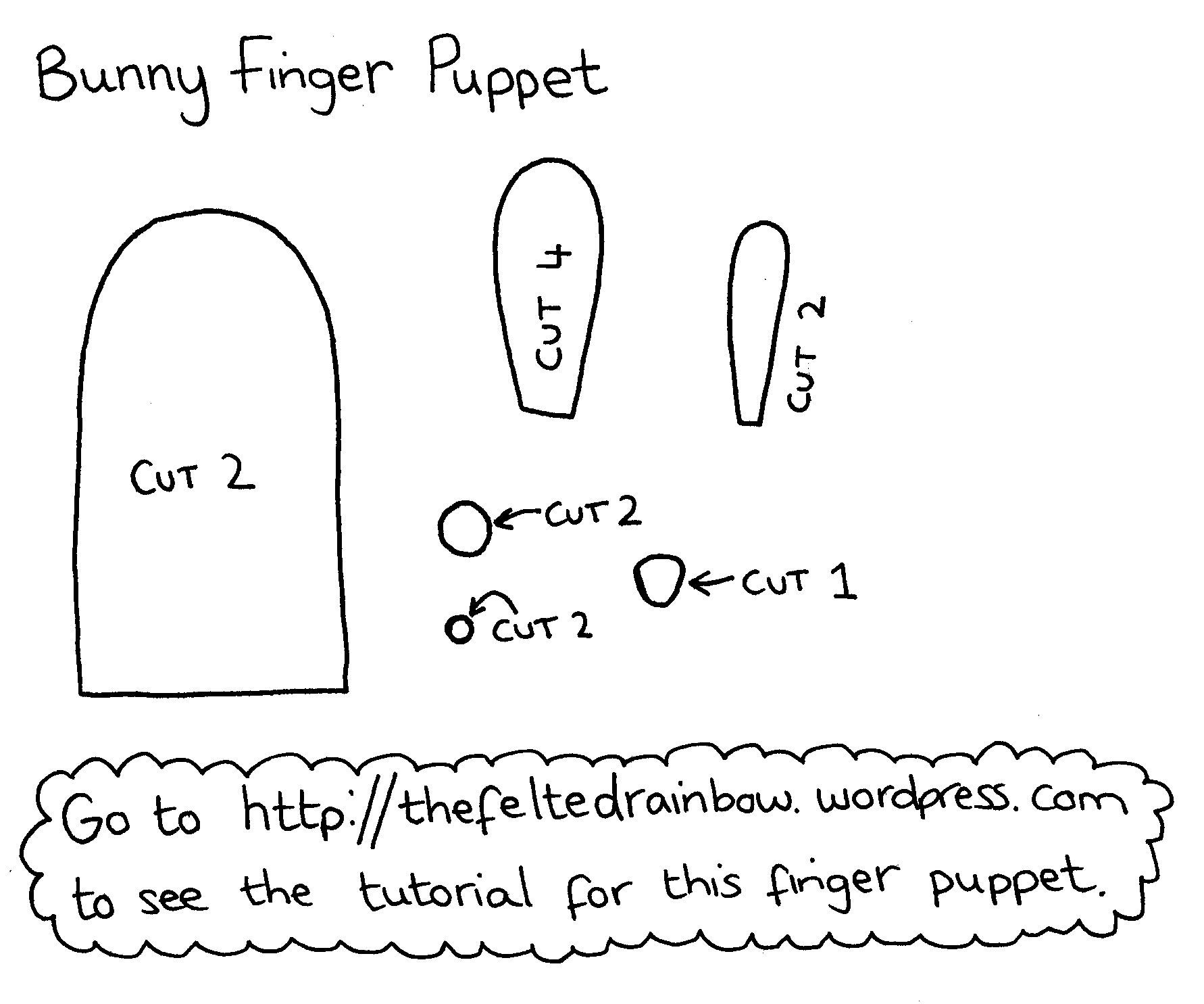 Tutorial Bunny Finger Puppet
