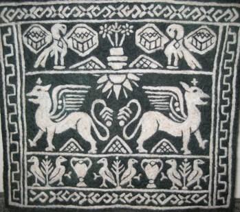 Greek Sampler Felt Tapestry Neysa Russo