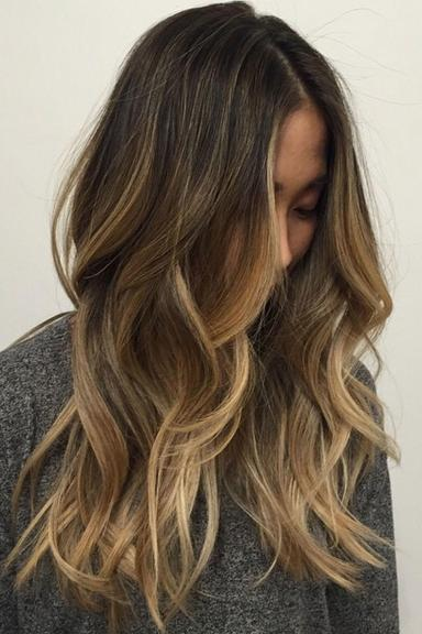 Brown and Blonde Ombre Hair