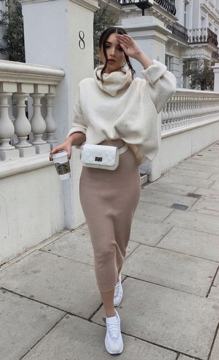 Sweater and Maxi Skirt