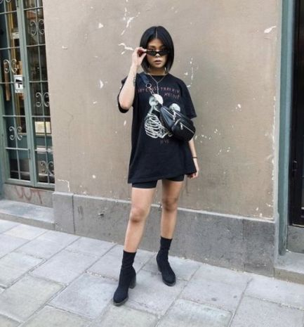 Graphic Tee and Short Tights
