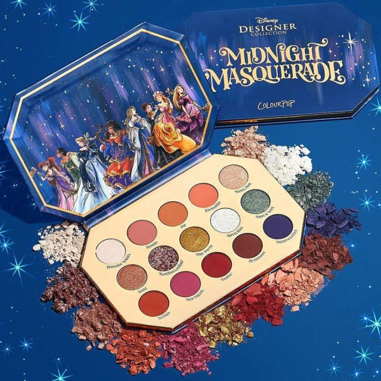 Colourpop Midnight Masquerade eyeshadow palette in 15 matte and shimmery shades