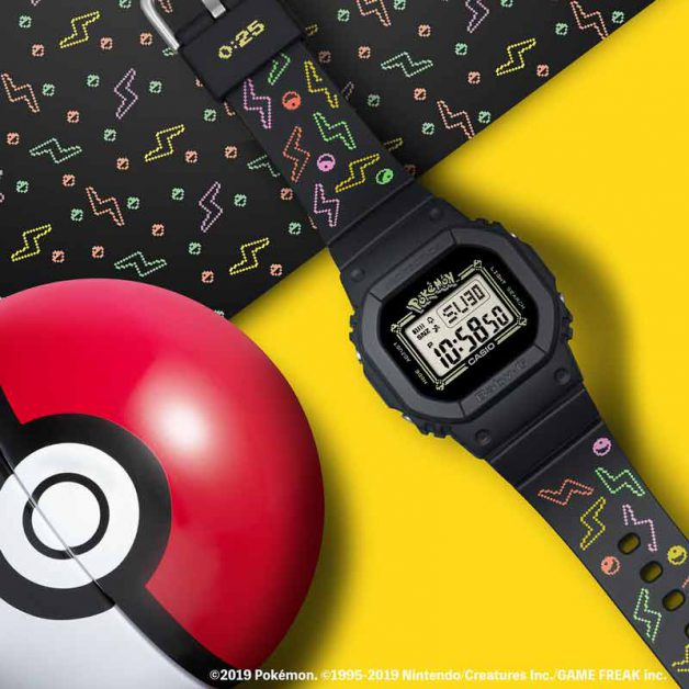 Close-up of the Pokemon Baby-G watch