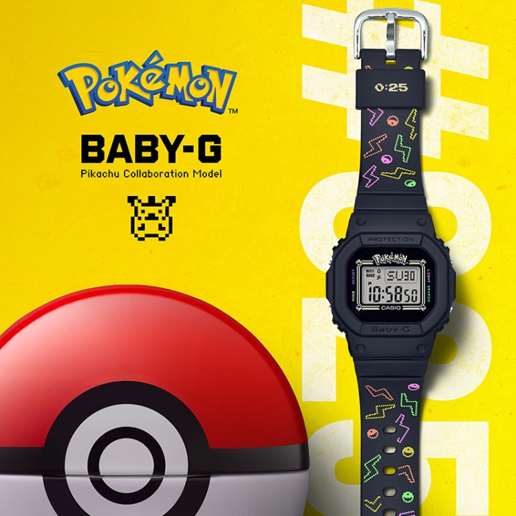 Official product photo for Casio's Baby-G x Pokemon collection