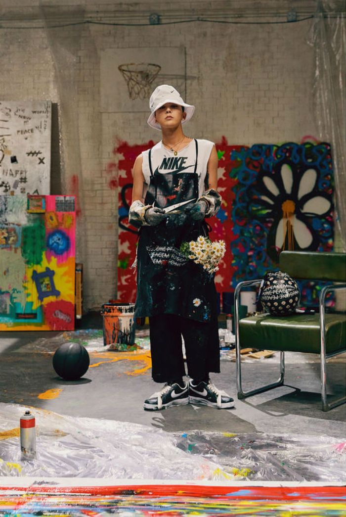 Official poster for G-Dragon's exclusive collab with Nike Air Force 1