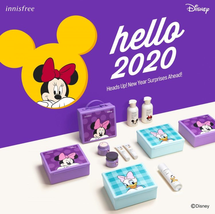innisfree's Hello 2020 collection featuring Mickey Mouse and friends