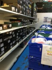 food on the shelves