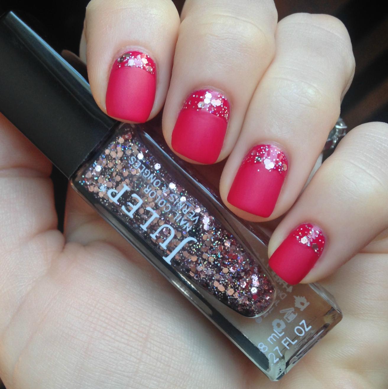 #NOTD using Revlon Cherries in the Snow, Julep Veuns