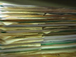 Image of documents that are typcially required for depositions