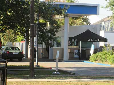 Taxi and Uber Tent