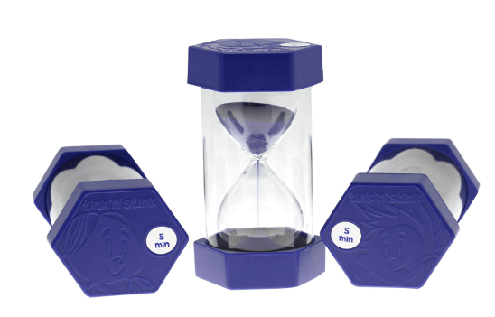 Childrens egg timer for learning and play