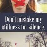 Don't mistake my stillness for silence - The Fervent Mama: Be quick to hear and slow to speak. Being sure to let my words be led of the Lord and not out of turn. (James 1:19) So don't mistake my stillness for silence.