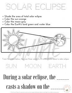 Tips for Experiencing the Solar Eclipse with Kids: The Fervent Mama - FREE Printable solar eclipse Activities for kids. Help the whole family enjoy the 2017 solar eclipse!