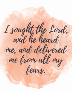 10 Scriptures for Overcoming Fear- The Fervent Mama: Fear is an intangible struggle that delivers a complete breakdown of your faculties. When we don't have the means to overcome fear, we have a God who does! Use these 10 scriptures to overcome fear FREE Printable.