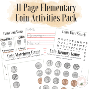 Elementary Intro to Coins Activity Pack