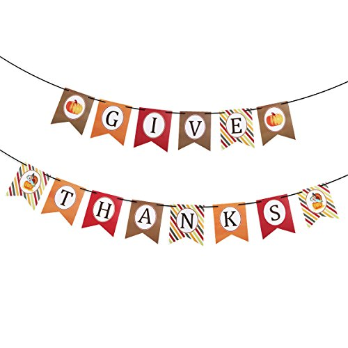 Give Thanks Paper Banner Hanging