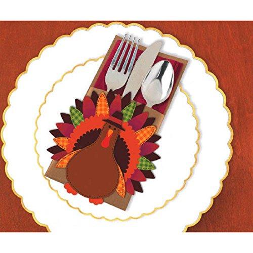 Amscan Thanksgiving Turkey Cutlery Holder