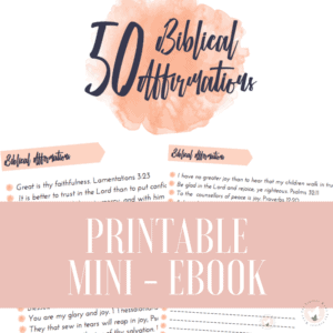 50 Biblical Affirmations Mini-Ebook