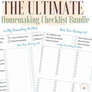 Ultimate Homemaking Checklist